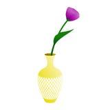 Flower in a vase royalty free illustration