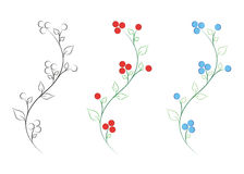 Flower vector Stock Photos