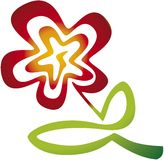 Flower (vector). Vector in CMYK mode. Only one shape for easy color changes Stock Image