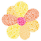 Flower Vector Abstract Made Of Small Flowers Stock Images