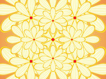 Flower vector background. Vector illustration of flower background Stock Photography