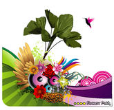 Flower vector background Stock Photos