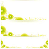 Flower vector background brochure template. Set of floral banners, illustrated with Illustrator CS and EPS10. Vector with transparency Royalty Free Stock Images