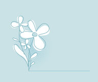 Flower Vector Background. Simple and Clean Herbal Concept Design Template Royalty Free Stock Photos