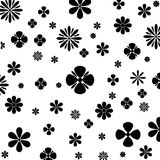 Flower Vector Black and White. Royalty Free Stock Photography