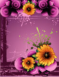 Flower vector composition Stock Images