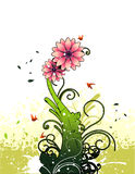 Flower vector composition Royalty Free Stock Image