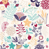 Flower vector composition. Royalty Free Stock Images