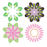 Flower vector vector cartoon illustration abstract design vector silhouette Stock Images