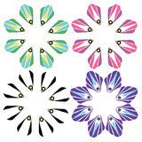 Flower flower vector design cartoon illustration abstract design  silhouette  Royalty Free Stock Photos