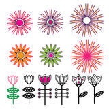 flower vector design floral cartoon illustration abstract design  silhouette  Stock Photography
