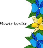 Flower vector drawing frame. Great for label, flyer, packaging design. royalty free illustration