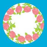 Flower vector frame Stock Photo