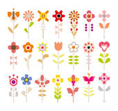 Flower vector icon set Stock Image