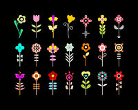 Flower Vector Icon Set Royalty Free Stock Photo
