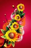 Flower vector illustration Stock Photos