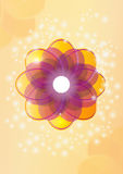 Flower. Vector illustration. Abstract coluor  flower  bacground Stock Images