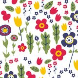 Flower. Vector illustration for children clothes for wallpaper Royalty Free Stock Image