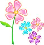 Flower Vector. An Illustration of a flower in Vector Format Stock Photos