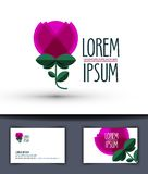 Flower vector logo design template. rose or plant Stock Photo