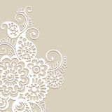 Flower vector ornament background Royalty Free Stock Photo