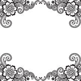 Flower vector ornament corner Stock Images