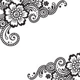 Flower vector ornament corner Royalty Free Stock Images