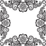 Flower vector ornament corner Royalty Free Stock Photo