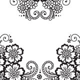 Flower vector ornament frame Royalty Free Stock Photography