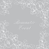 Flower vector ornament frame. Royalty Free Stock Images