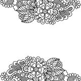 Flower vector ornament frame Royalty Free Stock Photo