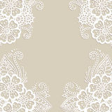 Flower vector ornament frame Royalty Free Stock Image