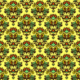 Flower vector pattern damask summer Stock Photos