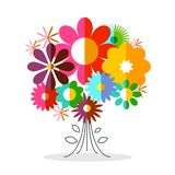 Flower. Vector Plants Isoated on White Background. Colorful Flat Design Flowers stock illustration