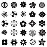 Flower vector set Stock Photos