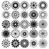 Flower vector set Stock Images