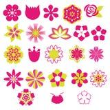 Flower Vector Symbols  icon set- Illustration Stock Photo