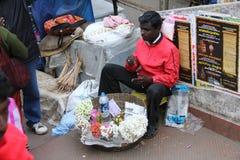 Flower vendor of Munnar Royalty Free Stock Image