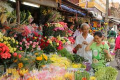 Flower Vendor Stock Photography