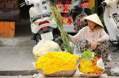 Flower Vendor Royalty Free Stock Image