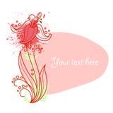 Flower vignette new Stock Images