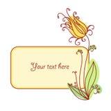 Flower vignette new 7 Stock Image