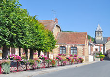 Flower Village near Epernay,Champagne region,France. One of the idyllic Flower Villages at Champagne Tourist Road near Epernay in Champagne region,France Royalty Free Stock Photos