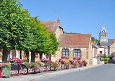 Flower Village near Epernay,Champagne region,France Royalty Free Stock Photos