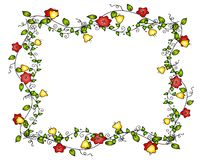 Flower Vine Frame or Border Stock Photography