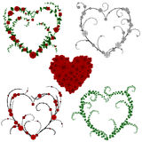 Flower and vine hearts Royalty Free Stock Photography