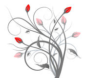 Flower and vines stock illustration