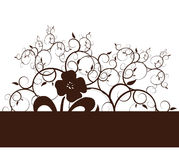 Flower and Vines background. Background Illustration with a flower silhouette and vines Stock Photo