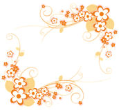 Flower and vines pattern Royalty Free Stock Photo