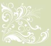 Flower and vines pattern royalty free illustration